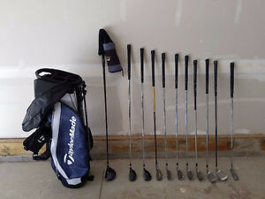 Full Set of Left Hand Golf Clubs with New TaylorMade Stand Bag