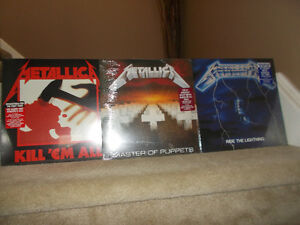 METALLICA LP's re-released SEALED