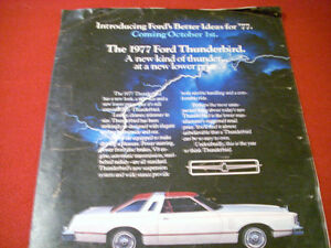 1977 Ford Thunderbird, Mercury Cougar XR-7 brochure