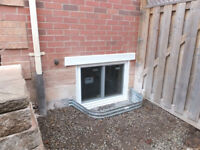 Custom Egress Windows installed to  Fire Code