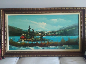 Original oil painting on canvas by Martin. 1960's