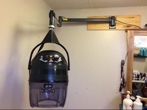 Hair salon style hood dryer
