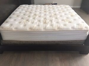 Bassett king size mattress and base