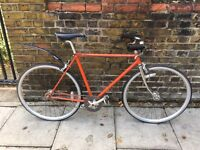 Raleigh single speed town cruiser with flip flop hub fixie fixed gear