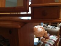 Table top mirror with drawers