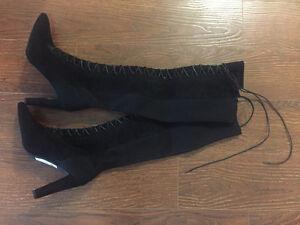 Stuart Weitzman Highstrung Lace Up High Heel Boots (wear once)