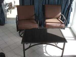 New 2 Swivel Chairs, Loveseat and Coffee table Outdoor Furniture