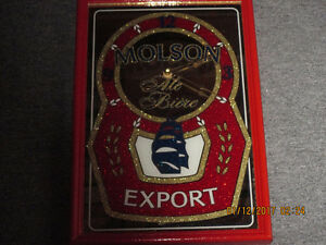 Molson Export Clock.