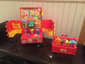HTF RARE Handy Manny Singing Dancing Toolboxes!!!
