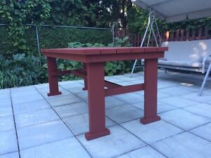 Custom patio tables and benches