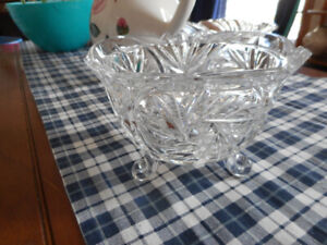 crystal dishes and vase