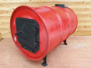 Barrel Stove Kit made from Cast Iron