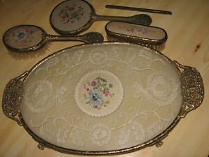 Brush, Mirror & Tray Set