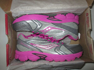 "Girls Saucony 'Cohesion Six"" running shoes, new, size 7 youth"