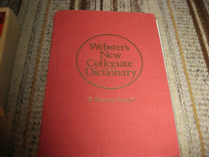 WEBSTER'S NEW COLLEGIATE DICTIONARY - A MERRIAM-WEBSTER
