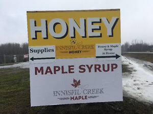 Unpasteurized Honey and Maple Syrup