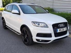 2013 Audi Q7 3.0 TDI S line Plus Automatic Quattro White 1 Owner Warranty VGC