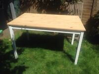 Shabby chic table with a sanded top - pine