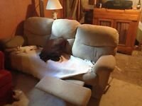 Reclining couch & chair set