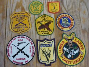 Gun, Skeet and Ontario Anglers & Hunters patches (8)