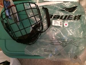 BAUER 3000 FACEGUARD BLACK LARGE NEW WITH TAGS