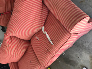 Free couch and chair.