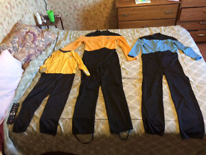Set of Star Trek uniform costumes