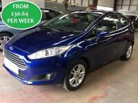 £132.81 PER MONTH Ford Fiesta 1.0 Eco Boost Zetec Hatchback 3 Door Blue