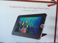 Portable DVD Player with Digital Photo Frame 8' WVGA LCD/USB +