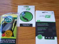 on the go charger and accessories - never used - $10 OBO