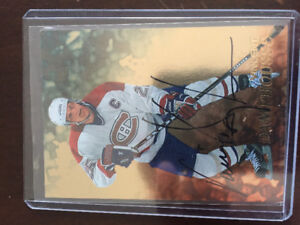 Certified Vincent Damphouse autograph hockey card