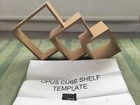 Next Opus Oak Cube Shelf