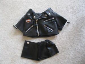 Build-A Bear Harley Davidson Out Fit (Jacket And Skirt)