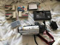 Jvc vhs-c video camera with accessories