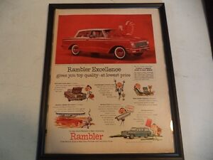 OLD AMC CLASSIC CAR FRAMED ADS Windsor Region Ontario image 9