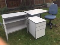 4 piece office equipment set