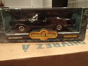 1:18 SCALE DIE-CAST AMERICAN MUSCLE 1969 PLYMOUTH GTX BLACK VELV