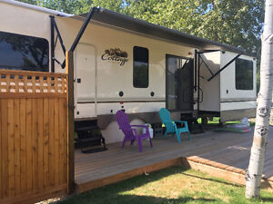 Shuswap Waterfront RV Lot for Sale AND 40' Cottage Trailer