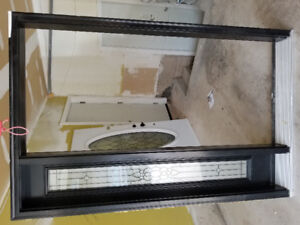 Entry Door with glass insert, sidelight and full frame