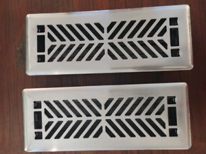 2 Silver tone heat Registers never used