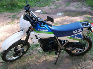 Kawasaki KLR250 newly inspected for the road