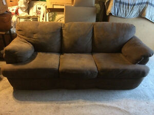 Good Condition Micro Suede Couch and Love seat.