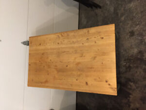 Child's Wooden Table + 4 Chairs