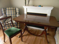Duncan Fife Dining Table and six chairs