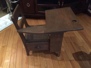 1 Antique wooden School Desk - Refinished
