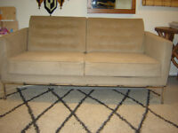 Vintage Florence Knoll Reproduction Mid Century Modern Loveseat