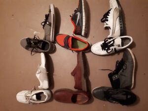Men's shoes all used but in good shape.  Make me an offer.
