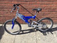 Kids 7speed full suspension bike
