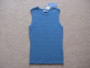 Woman's Denver Hayes Blue Sweater Tank Top(Brand New)