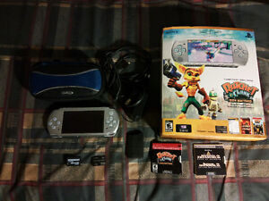 Playstation Portable PSP 16 Games 1 Movie + SD Adapter $125 OBO